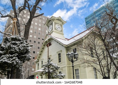 SAPPORO HOKKAIDO JAPAN JANUARY 1 2020  , Sapporo Clock Tower , a tourist destination attraction located in SAPPORO HOKKAIDO JAPAN