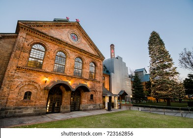 Sapporo, Japan- 12 NOV 2017: The Sapporo Beer Museum was opened in 1987 in a former brewery from the Meiji Period. The museum introduces the history of beer in Japan and the process of beer making.