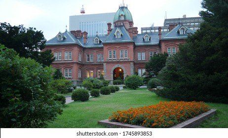 Sapporo, Japan, 1st of Jan 2020, sapporo city hall which was formerly provincial government building of  hokkaido,japan