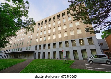 SAPPORO, JAPAN -25 JUN 2017- The campus of Hokkaido University (Hokudai) in downtown Sapporo. It is one of the top research and teaching universities in Japan.