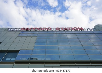 SAPPORO, JAPAN -26 JUN 2017- View of the Sapporo JR train station. Sapporo is the largest city in the Northern island of Hokkaido and the fifth largest city in Japan.
