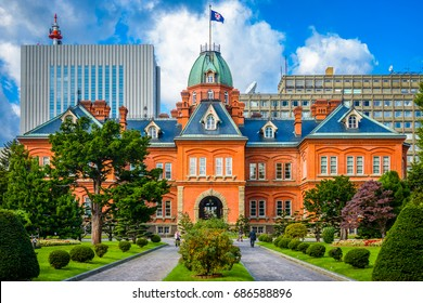 Sapporo, Japan at the historic Former Hokkaido Government Offices.