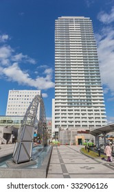 SAPPORO, JAPAN - OCT,29  : Downtown of Sapporo city Where is the fourth-largest city in Japan by population and the largest city on the northern Japanese island of Hokkaido. JAPAN OCT,29 2015