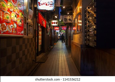 The Sapporo Ramen Yokocho is a famous alley not just for its concentration delicious ramen . Located near the Susukino Station in Sapporo, Japan. 09 June 2018
