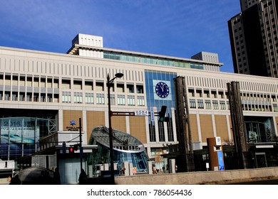 Sapporo Station, Hokkaido, Japan - 2015 winter : Sapporo station is the main station for JR train, subway and bus in Sapporo and nearby provinces in Hokkaido, Japan.