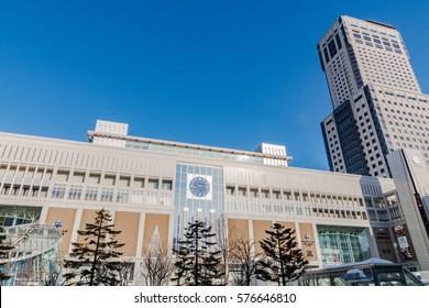 Sapporo Station, Hokkaido, Japan.It is the largest railway station in Hokkaido. February 2017