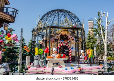SAPPORO,JAPAN - 5 May 2014 :Shiroi Koibito Park is a theme park by Ishiya, a local chocolate company.The park consists of a shop, cafe and restaurant and various chocolate related exhibits