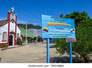Sapzurro, Chocó, Colombia. 19 / November / 2017. This exotic tourist site in the Caribbean Sea, is surrounded by paradisiacal beaches and is the Colombo - Panamanian Border. Is ideal for rest tourism