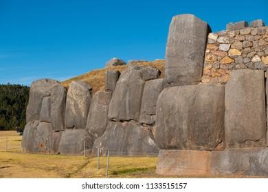 Saqsaywaman inca archaeological site, near Cusco, Peru.