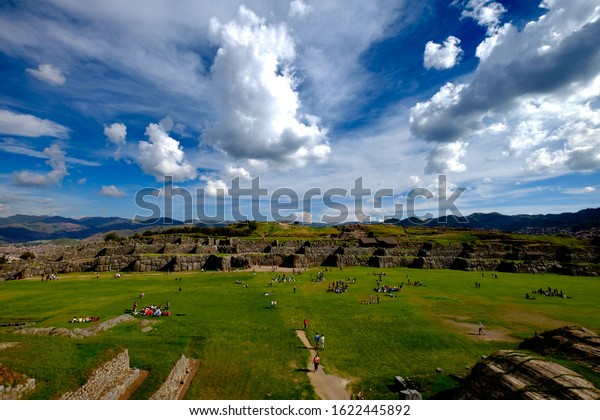 Saqsaywaman the sacred ruins of the Incas in Cusco