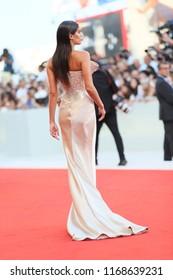 Sara Sampaio walks the red carpet ahead of the opening ceremony during the 75th Venice Film Festival at Sala Grande on August 29, 2018 in Venice, Italy.