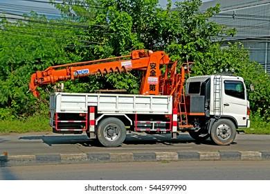 SARABURI-THAILAND-OCTOBER 15 : The transportation truck on the road on October 15, 2015, Saraburi Province, Thailand