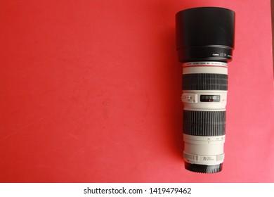 Saragossa Spain. September 18, 2018, photographic lens Canon EF 70-200mm f / 4L USM