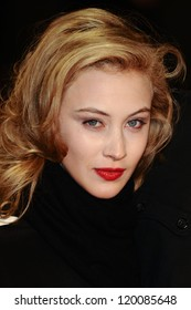 """Sarah Gadon at the premiere for """"Antiviral"""" being shown as part of the London Film Festival 2012, Odeon West End London.13/10/2012 Picture by: Steve Vas"""