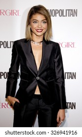 Sarah Hyland at the Cosmopolitan's 50th Birthday Celebration held at the Ysabel in West Hollywood, USA on October 12, 2015.
