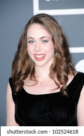 Sarah Jarosz at the 52nd Annual Grammy Awards - Arrivals, Staples Center, Los Angeles, CA. 01-31-10
