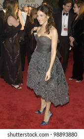 SARAH JESSICA PARKER at the 61st Annual Golden Globe Awards at the Beverly Hilton Hotel, Beverly Hills, CA. January 25, 2004