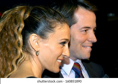 Sarah Jessica Parker and Mathew Broderick at the premiere of THE LAST SHOT, NY September 14, 2004