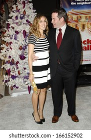 Sarah Jessica Parker, Matthew Broderick at DECK THE HALLS Premiere, Grauman's Chinese Theatre, Los Angeles, CA, November 12, 2006
