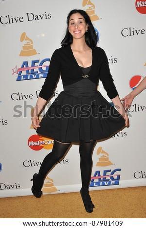 Sarah Silverman 2011 Clive Davis Pre Grammy Stock Photo Edit Now