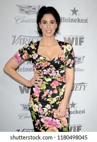 Sarah Silverman at the Variety And Women In Film's 2018 Pre-Emmy Celebration held at the Cecconi's in West Hollywood, USA on September 15, 2018.