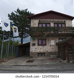 Sarajevo, 08/07/2018: house of Kolar family, now the Sarajevo Tunnel Museum, the house in which was hidden the northern entrance of the underground tunnel built in 1993 during the Siege of Sarajevo