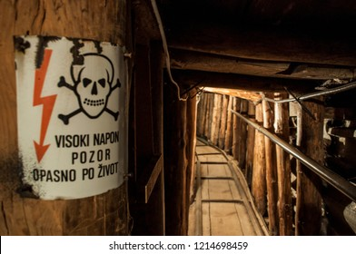Sarajevo, 08/07/2018: the Sarajevo Tunnel, underground tunnel built by the Bosnian Army in 1993 during the Siege of Sarajevo in the midst of the Bosnian War to save a city cut off by Serbian forces