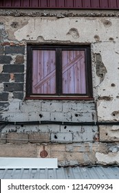 Sarajevo, 08/07/2018: window of Kolar family house, now the Sarajevo Tunnel Museum, in which was hidden the northern entrance of the underground tunnel built in 1993 during the Siege of Sarajevo