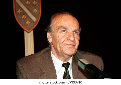 SARAJEVO, BOSNIA - 12 AUGUST:Bosnian President Alija Izetbegovic on August 12, 1997. Izetbegovic served as Bosnia and Herzegovina's president during its war of independence.