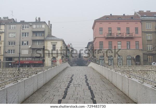 Sarajevo Bosnia Herzegovina 25 December 2016 Stock Photo