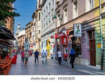 Sarajevo, Bosnia & Herzegovina - Aug 17, 2017: Sarajevo - Bascarsija