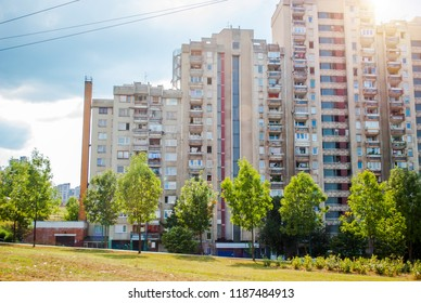 Sarajevo, Bosnia and Herzegovina: august 05,2015: High residential buildings in Sarajevo, Bosnia and Herzegovina
