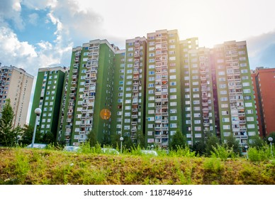 Sarajevo, Bosnia and Herzegovina: august 05,2015: High residential buildings in Sarajevo, Bosnia and Herzegovina