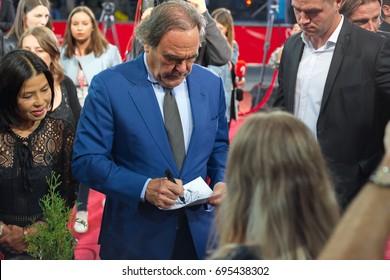 SARAJEVO, BOSNIA AND HERZEGOVINA - AUGUST 13: Oliver Stone a legendary film maker arrived to the 23rd Sarajevo film festival  on August 13, 2017 Sarajevo, Bosnia and Herzegovina