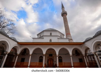 Sarajevo, Bosnia & Herzegovina : January 8, 2017 - Inside the Emperor's Mosque near to the Latin Bridge in the center of Old Town Sarajevo.