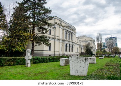 SARAJEVO, BOSNIA AND HERZEGOVINA - NOVEMBER 02, 2016: National Museum of Bosnia and Herzegovina