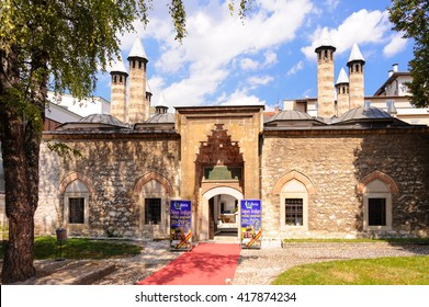 SARAJEVO, BOSNIA AND HERZEGOVINA - SEPTEMBER 4, 2009: Gazi Husrev-beg Madrasah (aka Kursumli Madrasah), is the oldest Islamic secondary school in the Balkans, established in 1537 AD.