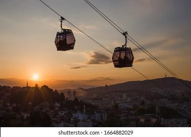Sarajevo cable car to Trebević mountain and sunset