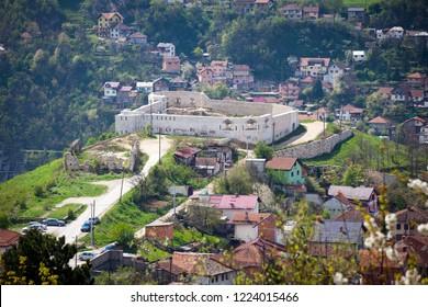 Sarajevo,   Sarajevo Canton / Bosnia and Herzegovina - 04.27.2014: Beautiful  view of White fortress of the old Vratnik Town