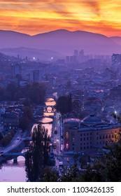 Sarajevo capital of Bosnia