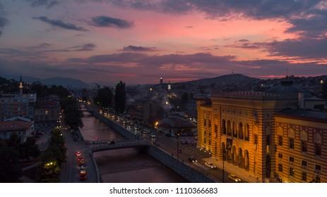Sarajevo in dusk