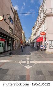 Sarajevo Meeting Of Cultures, Sarajevo, Bosnia and Herzegovina - September 2016: A famous street in old Sarajevo