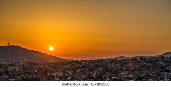 Sarajevo Sunset Golden Hour