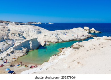 Sarakiniko beach, Milos island, Cyclades, Greece