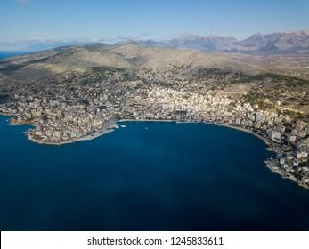 saranda city in albania ( balkan riviera) Balkan beach