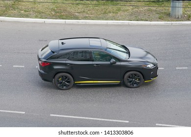 SARANSK, RUSSIA - JUNE 01, 2019: Lexus RX on city road.