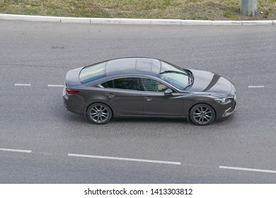 SARANSK, RUSSIA - JUNE 01, 2019: Mazda6 on city road.