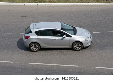 SARANSK, RUSSIA - JUNE 01, 2019: Opel Astra J on city road.