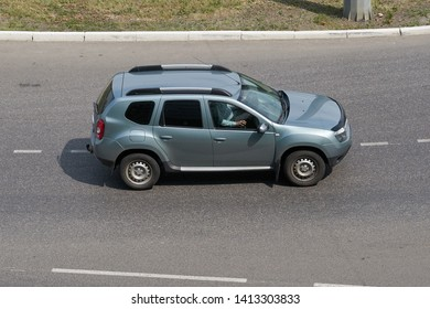 SARANSK, RUSSIA - JUNE 01, 2019: Renault Duster on city road.