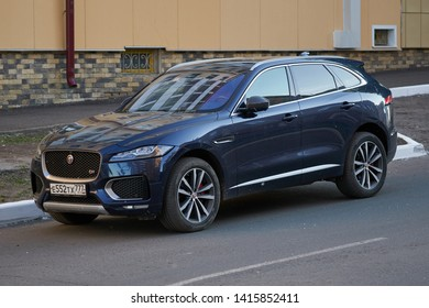 SARANSK, RUSSIA - JUNE 04, 2019: Jaguar F-Pace parked at the side of the street.